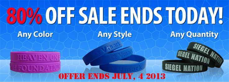 At GoWristbands, you will find these rubber wristbands in different styles - color filled, debossed, embossed, blank and in different types - solids, dual printed, swirl, glow in the dark, etc.