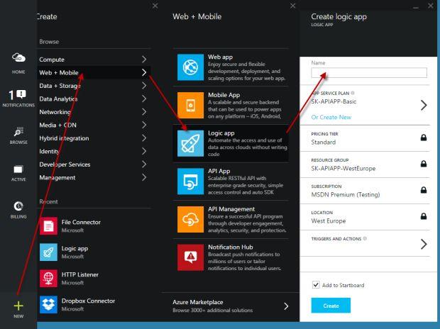 Creating Azure Logic App