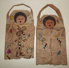 """""""dried"""" animal skin papoose craft with instructions"""
