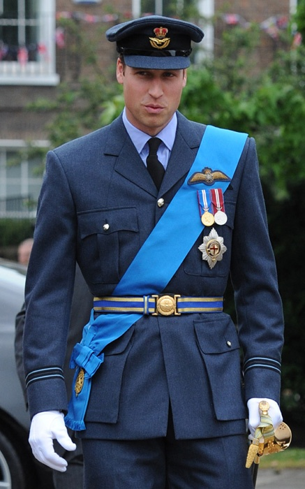 HRH Prince William of Wales, Duke of Cambridge about to board the Royal Barge in celebration of the Queen's Diamond Jubilee, 03/06/12