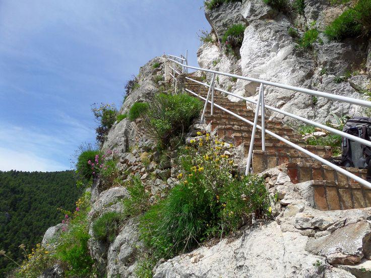 the stairs of Saint Marina church
