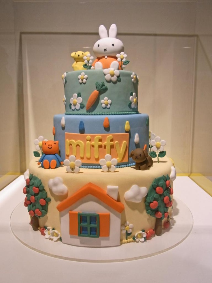 Ezra is obsessed with Miffy!!! miffy cake - Google Search