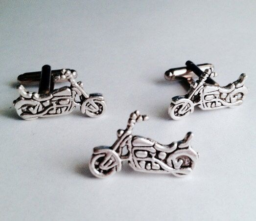 Hey, I found this really awesome Etsy listing at https://www.etsy.com/listing/186836837/mens-silver-motorcycle-biker-cuff-links