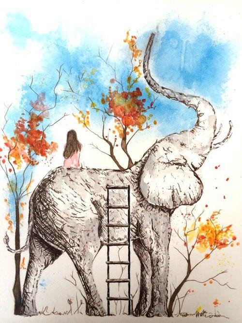 Watercolor elephant Tattoo inspiration | Tattoos ... - photo#11