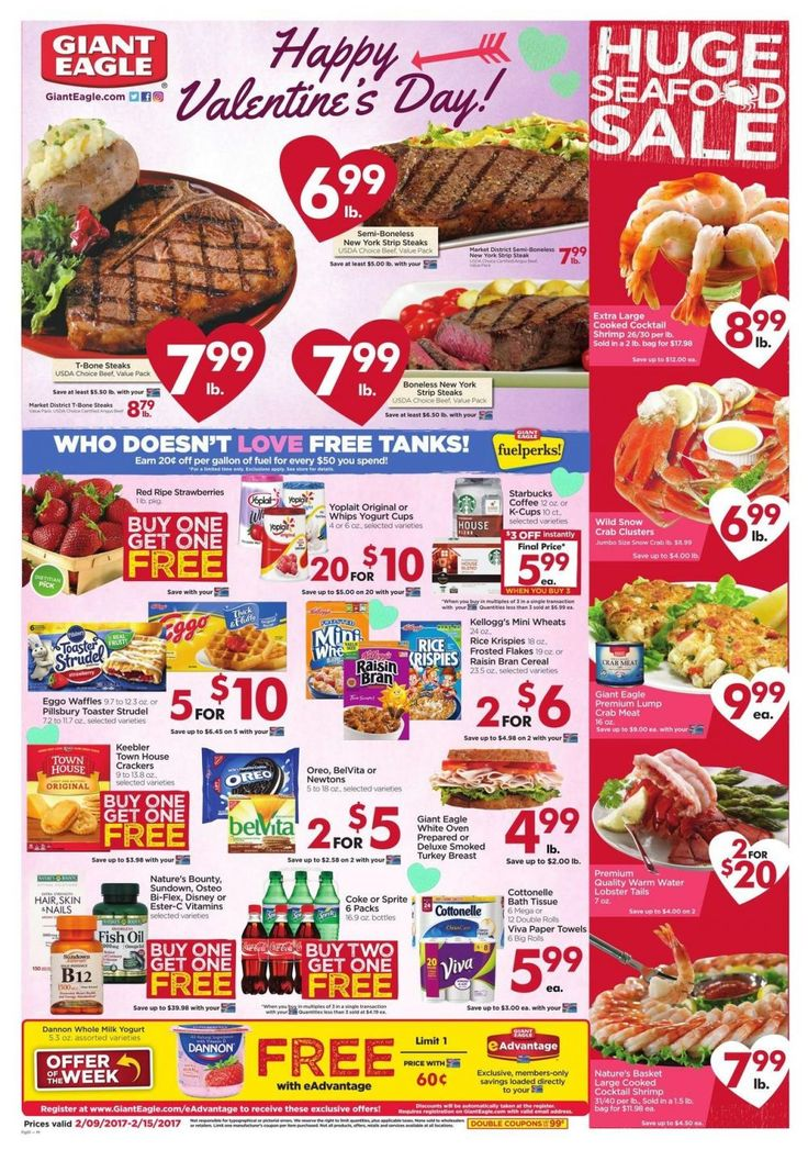 Giant Eagle Weekly Ad Circular February 9 - 15 United States #Grocery #GiantEagle