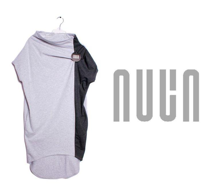 Sukienka NUUN w klasycznych kolorach - jasnoszarym i grafitowym: http://nuun.shoplo.com/kategoria/nowosci/nuun-sukienka-o1