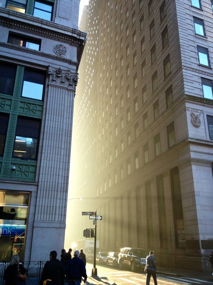 Light and atmosphere only in one place. Downtown Manhattan, NYC
