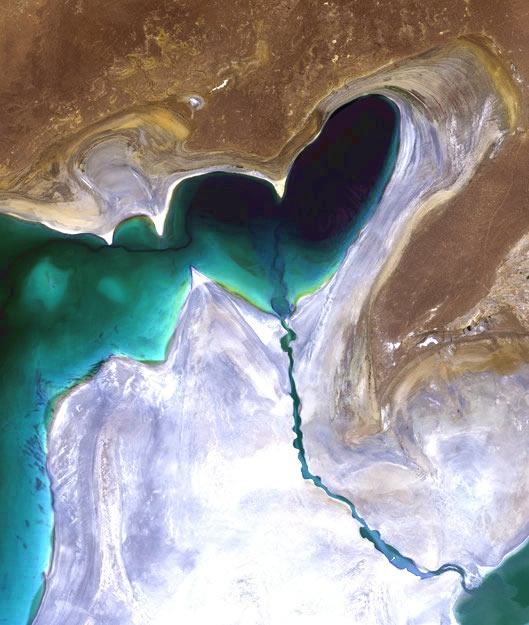 Planet Earth from space: Heart of Central Asia (Credit: ESA) ♥, via #Denebofficial