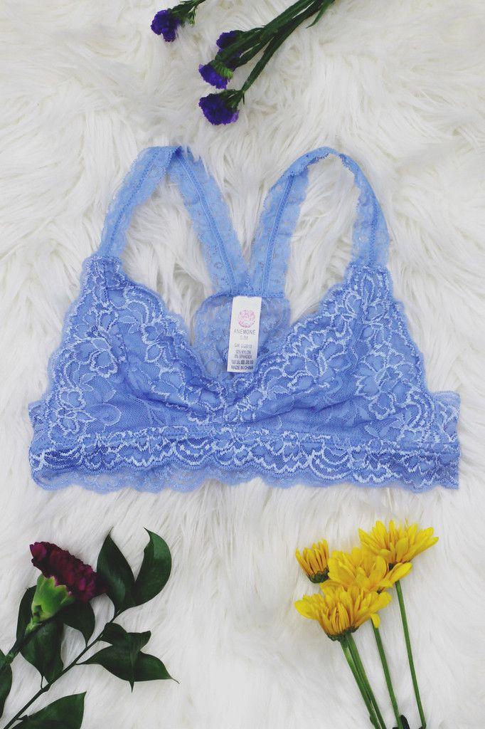 Carolina Blue Lace Racerback Bralette