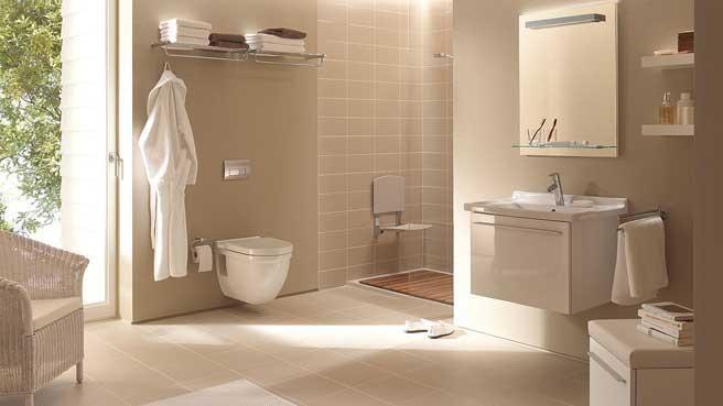 Salle de bains beige