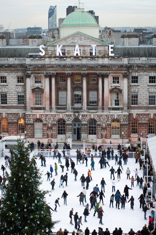 Winter skating, Somerset House, London