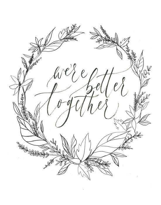 we're better together by julietgracedesign on Etsy, $15.00
