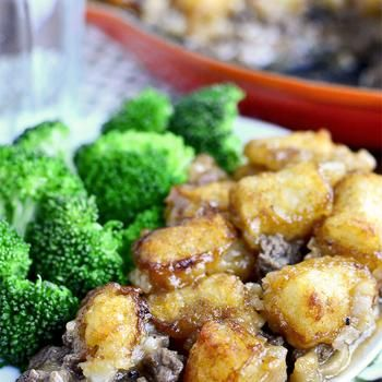 Skillet Tater Tot Casserole (No Condensed Soup!) Recipe