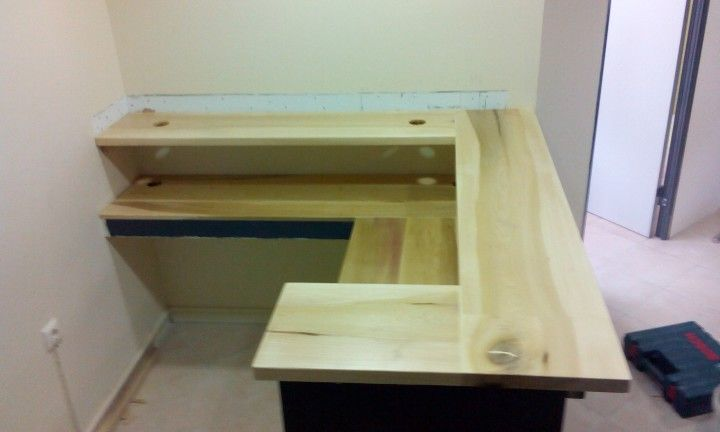 Reception desk ( poplar ) made by handmsde-sa.