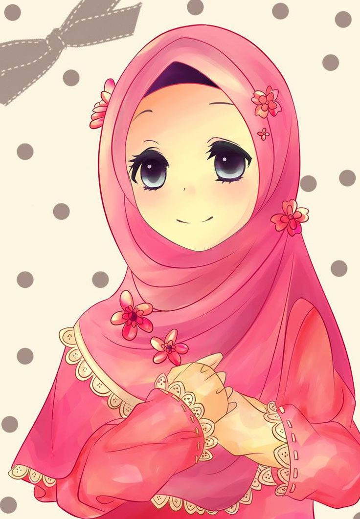 hijab is the muslim's crown | Cartoon Muslimah | Pinterest