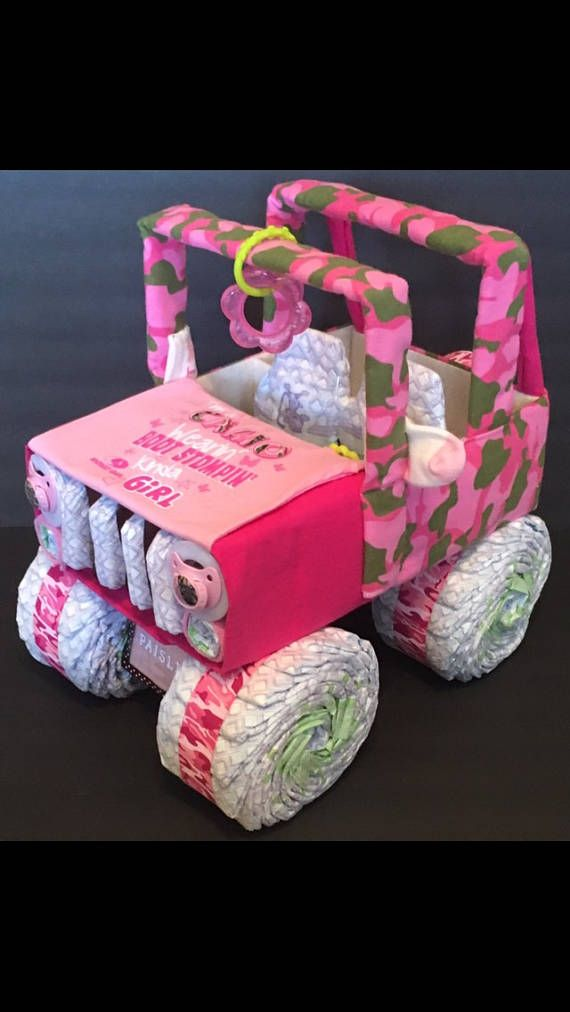Check out this item in my Etsy shop https://www.etsy.com/listing/504235199/pink-camo-baby-shower-jeep-diaper
