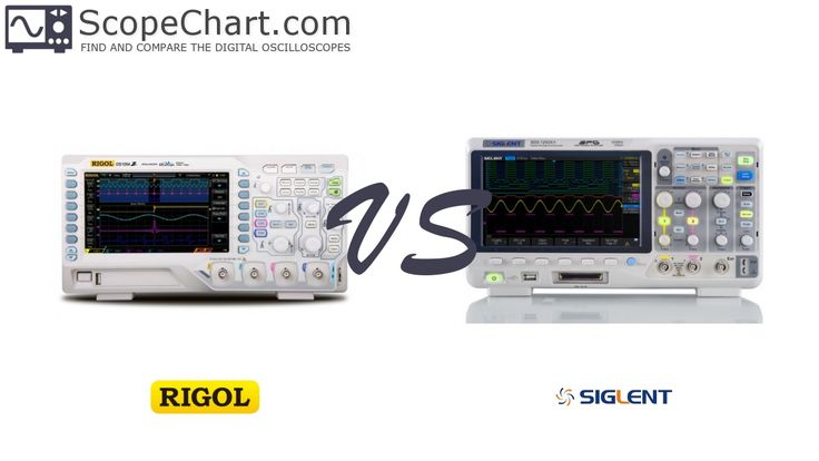 The side-by-side comparison of the Rigol DS1054Z and Siglent SDS1102X+ oscilloscopes. #oscilloscopes #comparison #RigolDS1054Z #SiglentSDS1102X