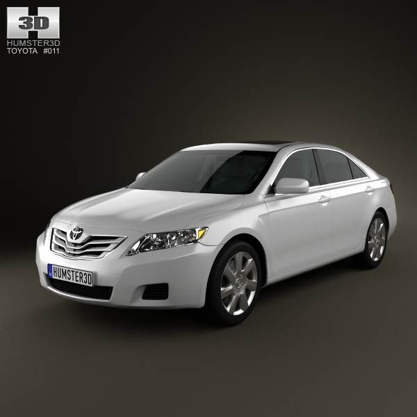 Toyota Camry 2010 3d model from humster3d.com. Price: $125