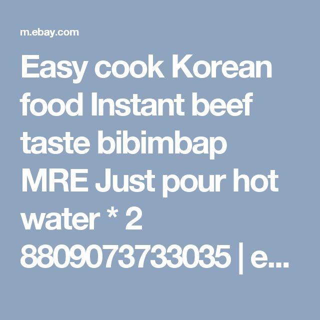 Easy cook Korean food Instant beef taste bibimbap MRE Just pour hot water * 2 8809073733035 | eBay