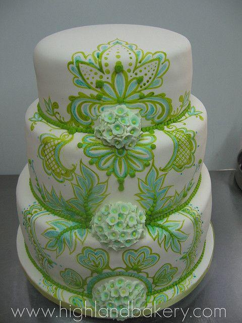 Paisley Wedding Cake by Karen Portaleo/ Highland Bakery, via Flickr
