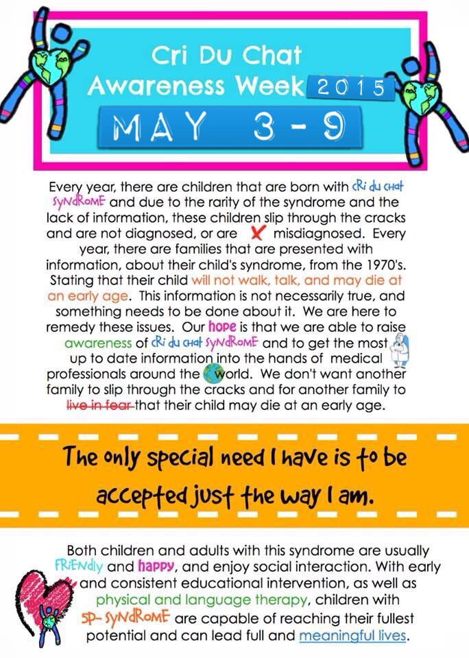 Criduchat awareness week 2015 ❤️
