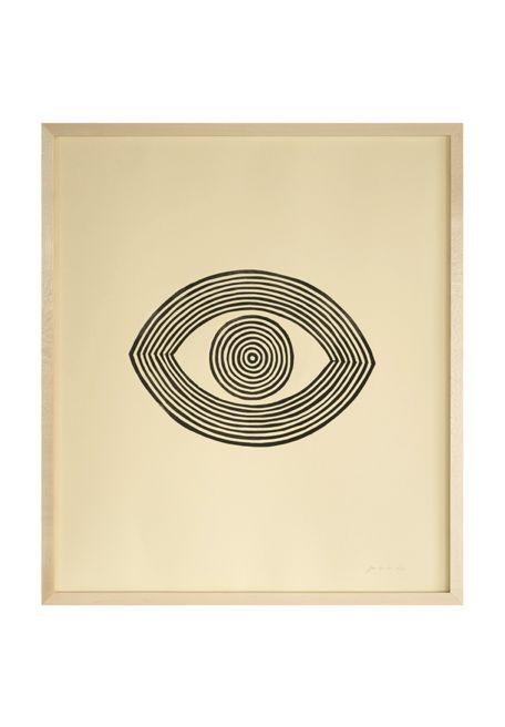 Watching Eye Linocut Print by Jennifer Ament