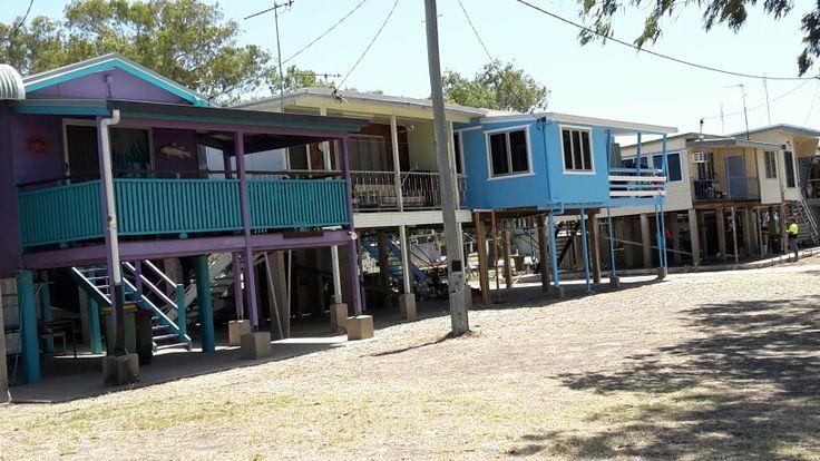 Groper Creek, Qld...houses all on stilts..when it rains over summer flood waters can go as high as verandahs