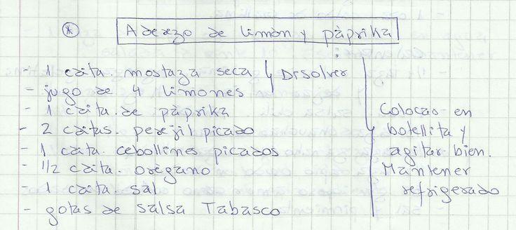 ADEREZO DE LIMON Y PAPRIKA   #SALADO #SALSAS #ADEREZO #LIMÓN
