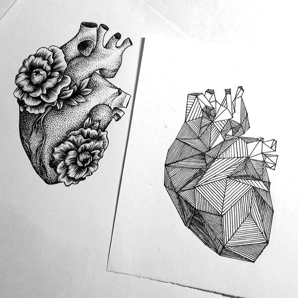 Loving the contrast of styles used within these two designs of the same subject - j'adore