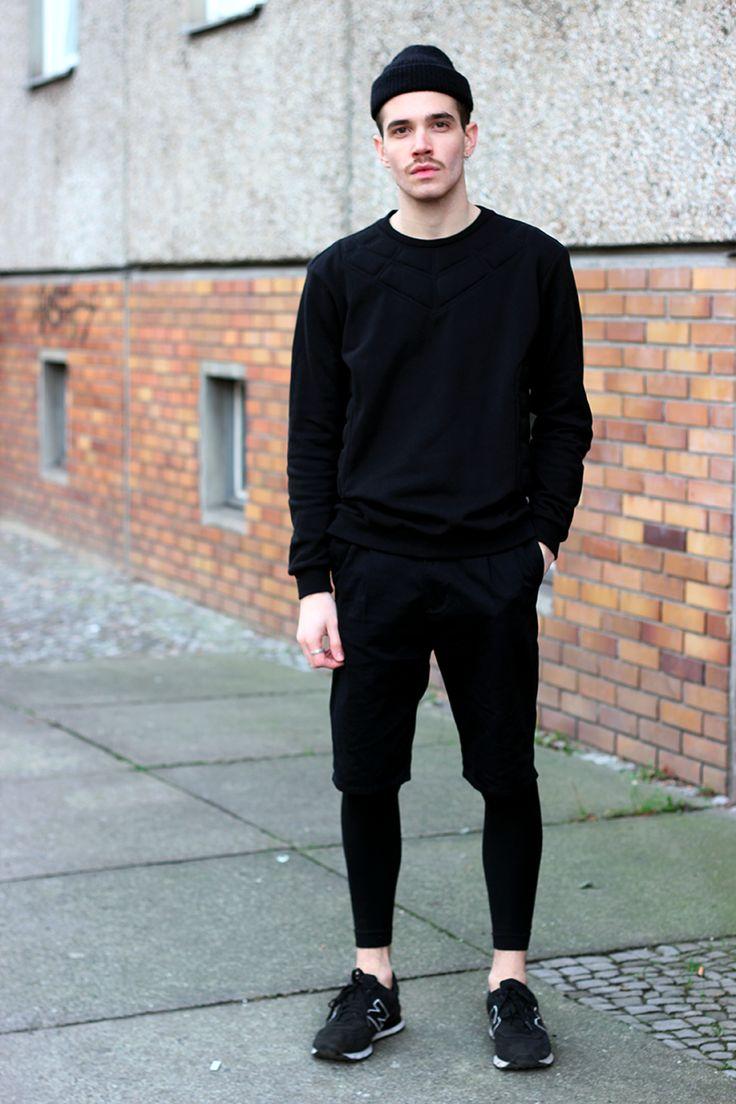 I like this look minus the leggings short I would prefer regular black sweats