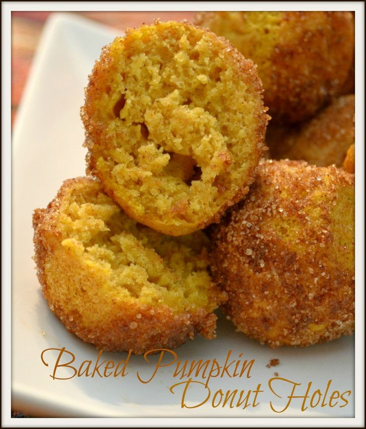 Baked Pumpkin Donut Holes | Recipe