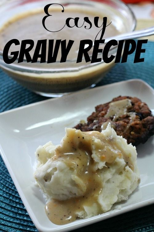 Easy Gravy. Use beef drippings, chicken, bacon, or none at all and make this to cover a wide range of dishes and use it from breakfast to dinner. ♥ The Frugal Navy Wife