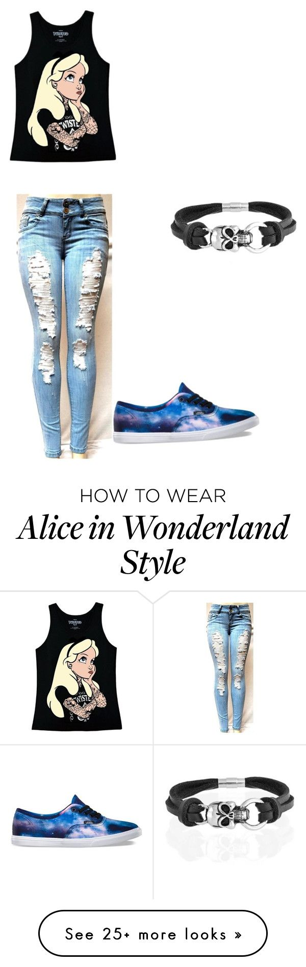 """Untitled #82"" by emmi-coconuthead on Polyvore featuring Disney, Vans and Bling Jewelry"