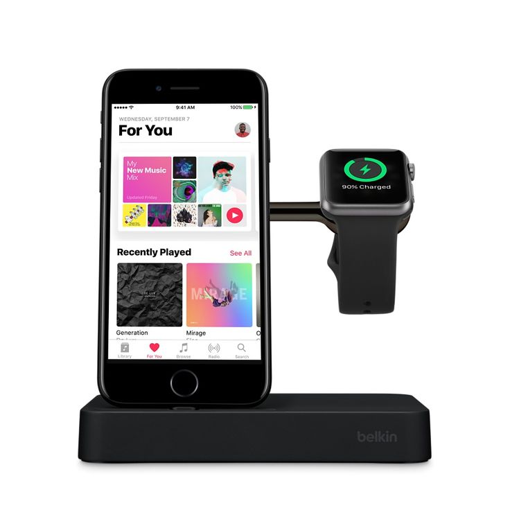 Charge your Apple Watch and iPhone with just one cable using the Belkin Charge Dock. Buy online now at apple.com (Black)