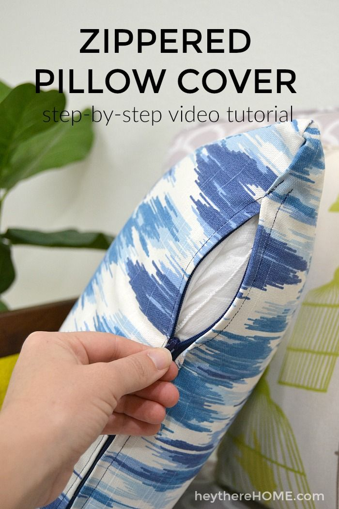 Don't be afraid of your sewing machine! This easy to follow tutorial (with video) will have you sewing your own throw pillows!