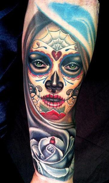 Realism Muerte Tattoo by Nikko Hurtado - http://worldtattoosgallery.com/realism-muerte-tattoo-by-nikko-hurtado-11/
