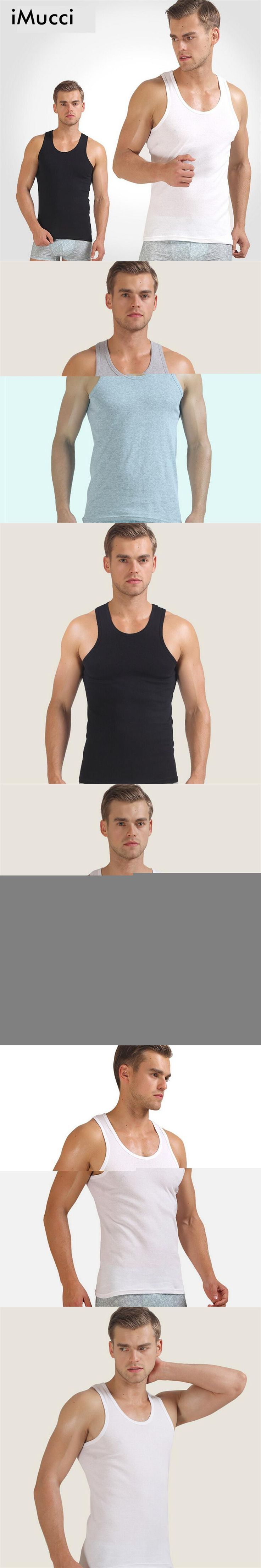 iMucci White Men Vest Men's Tank Tops Black 100% Cotton Sleeveless Undershirts Male Bodybuilding Tank Tops Summer Casual Vests