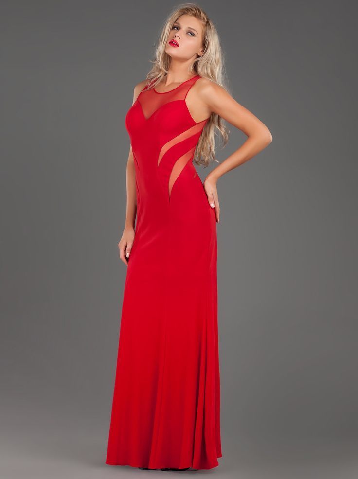 Impressive Lοng Evening Jersey Dress with Transparencies!! http://mikael.gr/el/new-collection/30454.html