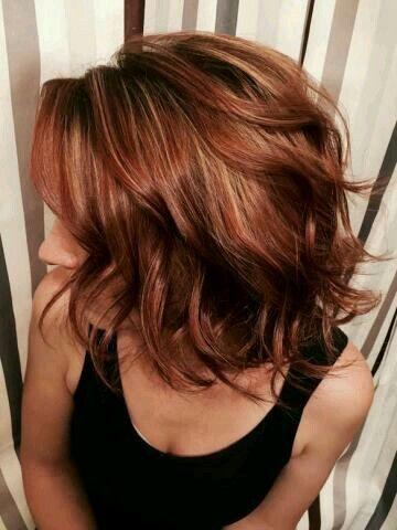 Copper hair color..                                                                                                                                                     More