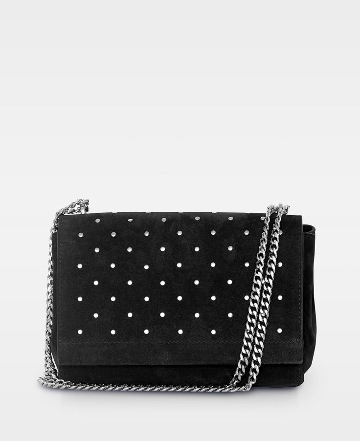 DECADENT Madelyn small bag studs, Suede black