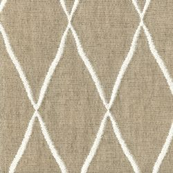Lofty Flax Diamond Embroidered Upholstery Fabric - Fabric By The Yard At Discount Prices