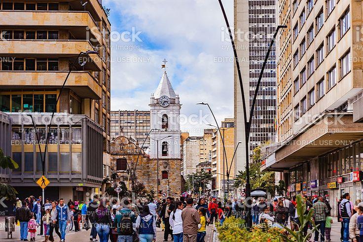 Bogota, Colombia - Carrera Septima on Veinte de Julio 2016 royalty-free stock photo