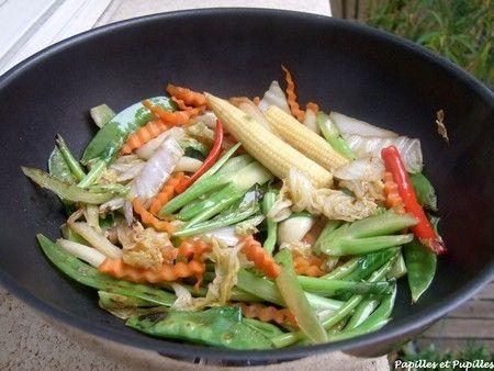 Légumes au wok tout simplement