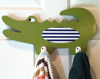 Alligator nursery clothing rack, alligator nursery decor, boy's room decor