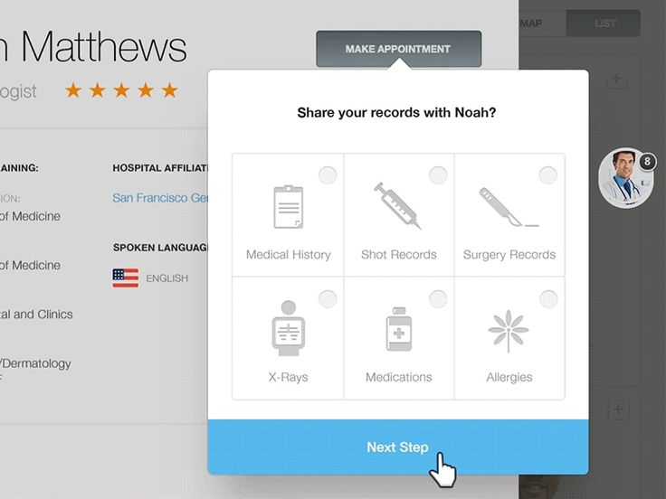 """It's out! Fantasy's latest case study : What If We Could Rethink Digital Healthcare? Check it out if you haven't already.  Here is a part of the """"Make appointment"""" flow we designed for desktop. We ..."""