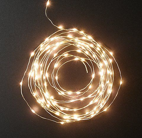 Starry String Light Collection | RH--I'll bring my battery powered set