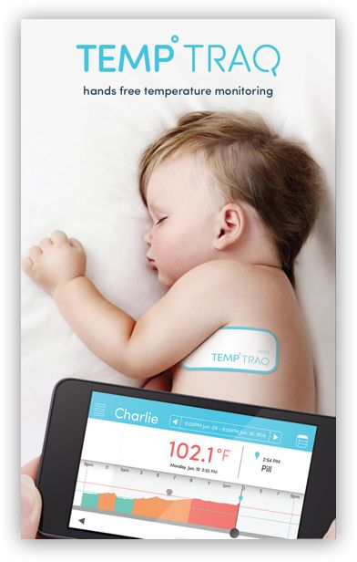 wearable, wireless, continuously monitoring intelligent thermometer