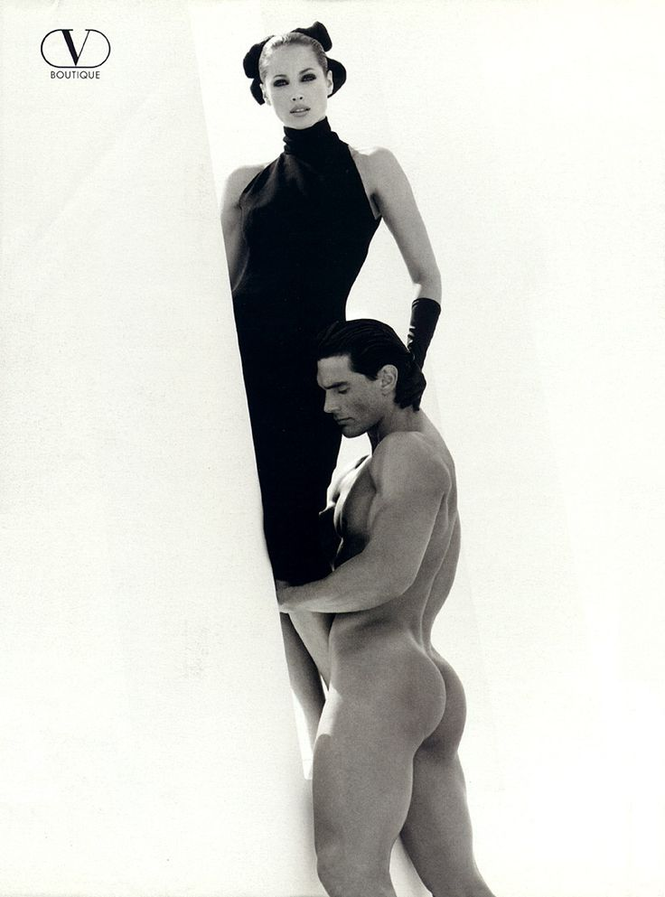 Italian Vogue September 1995 Valentino ads Model: Christy Turlington and a male model