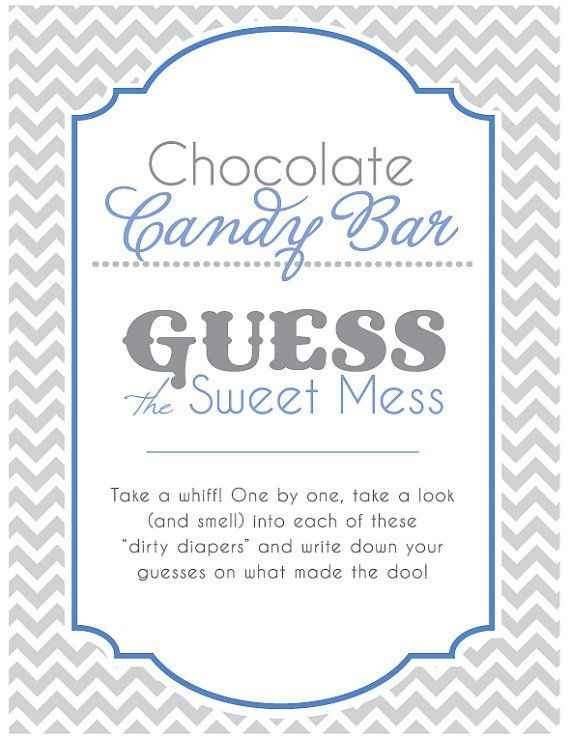 Image Result For Guess The Sweet Mess Free Printable Baby Shower Signs Baby Shower Diaper Game Summer Baby Shower Invitations