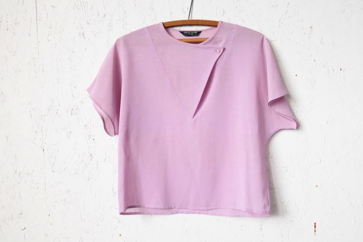 Vintage Pierre Cardin Top, Sheer Blouse, Box Boxy ,Lavender, Pale Pink by EclecticRambler on Etsy https://www.etsy.com/listing/497423253/vintage-pierre-cardin-top-sheer-blouse